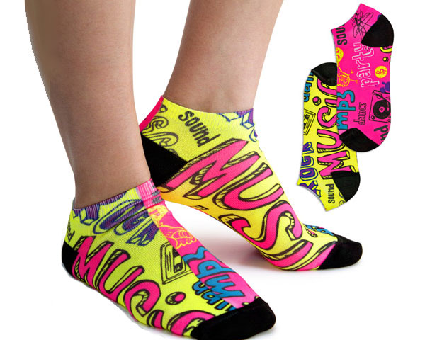 Fluorescent Ankle Socks