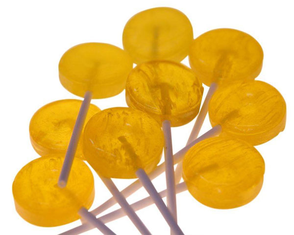 Yellow Promotional Lollipops