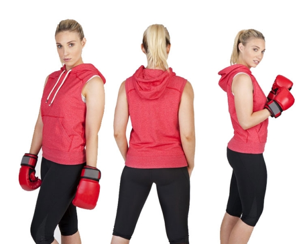 Sleeveless Hooded Tops