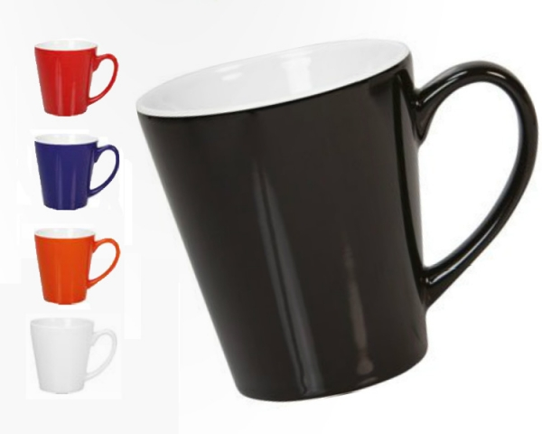 Triangle shaped coffee mugs